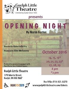 Opening Night directed by Roberta Belfry