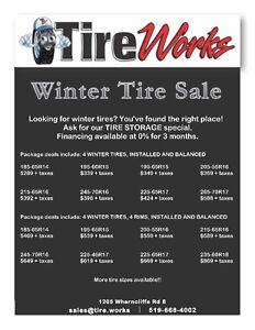 TIRE WORKS - NEW AND USED TIRES - SAME DAY INSTALLATION