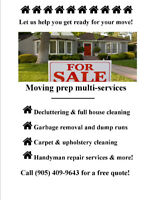 Moving?Thorough cleanings/carpets, fix it jobs & more!