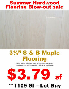 Maple Hardwood Flooring - Floor Country Factory Clearance