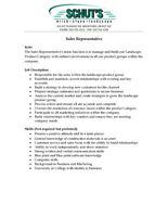 Sales Representative - Full Time