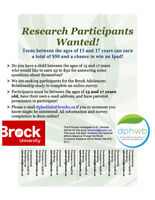 EARN UP TO $50! LOOKING FOR ADOLESCENTS 13-17 FOR ONLINE SURVEY!