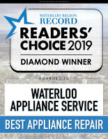 WATERLOO APPLIANCE PARTS AND REPAIR SERVICE- TRUSTED SINCE 1979