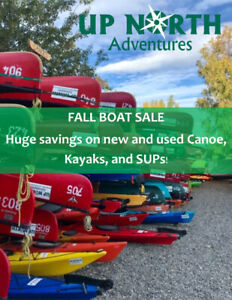 HUGE DISCOUNTS on New and Used Canoes, Kayaks, and SUPs!