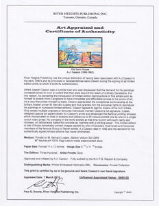 Limited Edition Appraised A. J. Casson Lithographs Cambridge Kitchener Area image 10