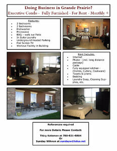 Fully furnished executive condo