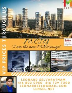 10 TOWER BUILT IN MISSISSAUGA! M City Condos .Starting under200k