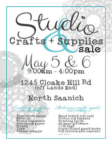 Studio Crafts and Supplies Sale