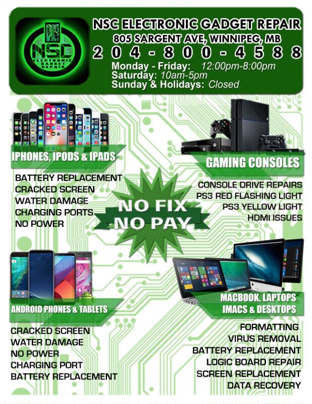 iPhone, Xperia, Samsung Galaxy, LG, Google Pixel Repair