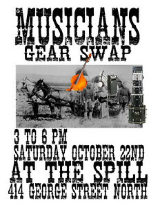 Musicians Gear Swap at The Spill Oct 22nd 3-6pm 414 George st.