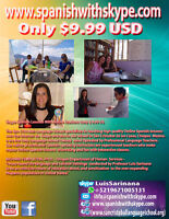 Spanish Lessons Online for only $ 10US per hr. 222