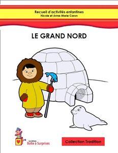 Livre d'activités enfantines - Thème le Grand Nord