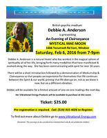 Debbie Anderson: Evening of Clairvoyance