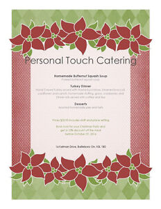 Holiday and Christmas Party Catering Kawartha Lakes Peterborough Area image 1