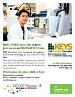 Don't PARK Your Job Search, Join us on an INNOVATION Tour!