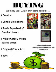 Buying comic books and Magic cards. Fast cash paid