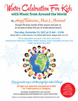 Winter Celebration for Kids with Music around the World