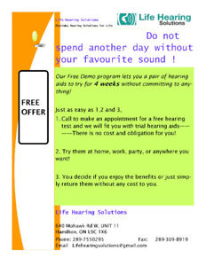 Free Trial Hearing Aids for 4 weeks