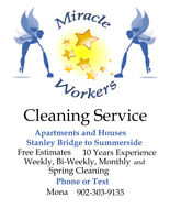Cleaning Service - Summerside to Cavendish