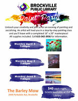 PAINT PARTY with the Brockville Public Library
