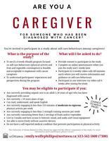 Seeking volunteers for a research study on caregivers' self-care