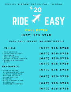 RIDE EASY - CALL PETER - AIRPORT SPECIAL RATE