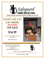 SAVE !  Fire Starters On Sale - Safeguard Chimney Sweep & Stoves