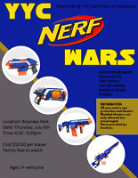 YYC Nerf wars Nerf in the park 2