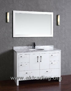 Solid oak wood vanity... SALECHECK US OUT