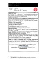 Truck Driver - The Salvation Army