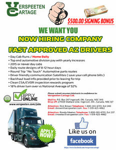 NOW HIRING - AZ FAST APPROVED COMPANY DRIVERS London Ontario image 1