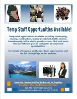 Temp Jobs Available