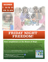 Childcare & Activity Friday December 7th Free @ House of Hope