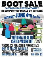 MEALS on WHEELS FREDERICTON BOOT/YARD SALE