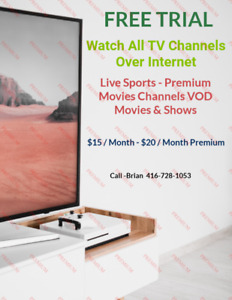 3000 + Channels Video On Demand! Live TV Recording! 3 day Trial!