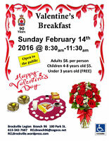 Valentines Breakfast Sunday February 14th Brockville Legion All