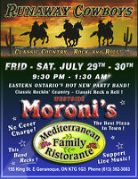 Live Music Westside Moroni's Restaurant Gananoque July 29th 30th