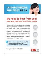 Listening to People Affected by MS 2.0