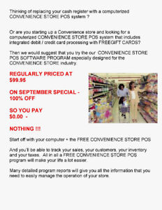 NOW AVAILABLE A GREAT CONVENIENCE STORE POS PROGRAM - FOR FREE !