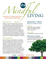 Mindful Living 8 week course in Lake Country