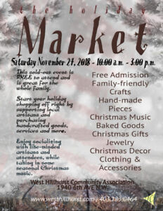 WEST HILLHURST HOLIDAY MARKET - NOV. 24TH