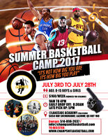 CHAMPS BASKETBALL Camp - LOOKING FOR COACHES/VOLUNTEERS