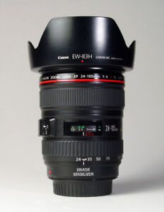 Canon 24-105 L Lens    with hood