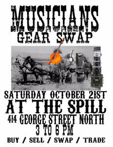 Musicians Gear Swap @ The Spill 414 George St Sat Oct 21st 3-6pm