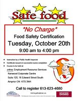 FREE Food Safety Certification Course