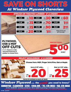 SAVE ON DECKING LUMBER AND PLYWOOD SHORTS