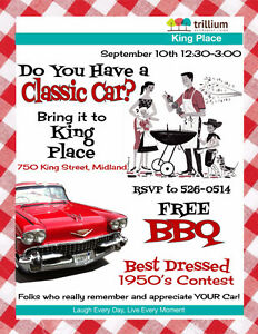 FREE BBQ and Classic Cars