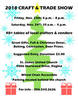 St. James United Church Craft Sale / Trade Show