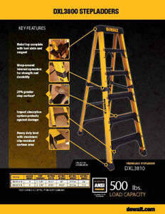 Dewalt DXL 3810 8 ft Extra Heavy Duty Fiberglass Ladder