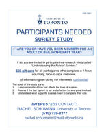 PARTICIPANTS WANTED